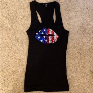 Guess Patriotic Lips tank top S